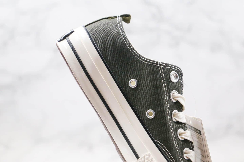 匡威CONVERSE x MADNESS公司级版本余文乐联名款低帮绿色撞色帆布鞋原厂硫化大底原盒原标 货号:161026C
