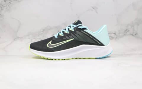 耐克Nike Quest 3纯原版本极致三代网眼慢跑鞋黑蓝绿色原楦头纸板打造原盒原标 货号:CD0230-005