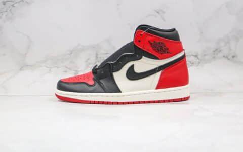 乔丹Air Jordan 1 Retro High OG Bred Toe纯原版本高帮AJ1黑红脚趾篮球鞋原档案数据开发原盒原标 货号:555088-610