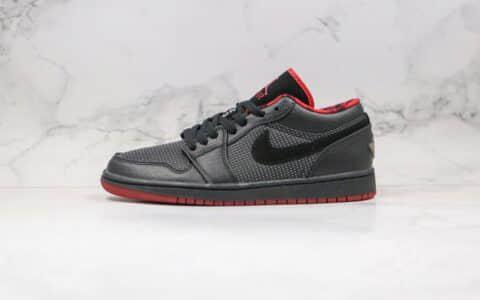 乔丹Air Jordan 1 Low纯原版本低帮AJ1黑红色波点篮球鞋内置气垫原盒原标 货号:309192-001