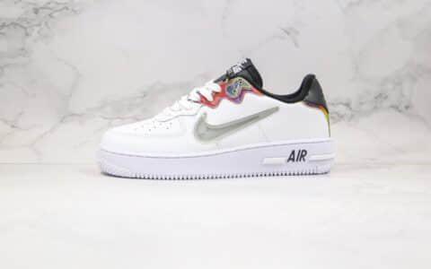 耐克Nike Air Force 1 React纯原版本低帮空军一号板鞋透明勾炫彩渐变点缀白青色内置气垫 货号:CN9838-100