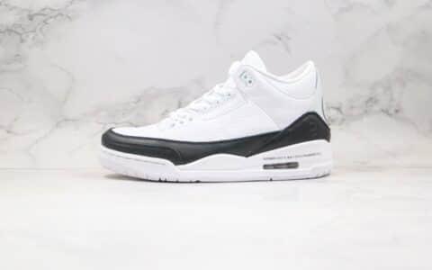 乔丹Air Jordan 3 x Fragment Design纯原版本藤原浩联名款白黑色闪电AJ3篮球鞋原盒原标正确后跟细节 货号:DA3595-100