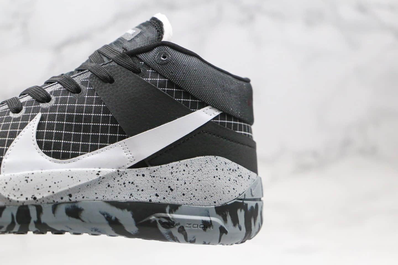 耐克Nike Zoom KD13 EP纯原版本杜兰特13代黑白色篮球鞋内置气垫支持实战 货号:CI9949-004