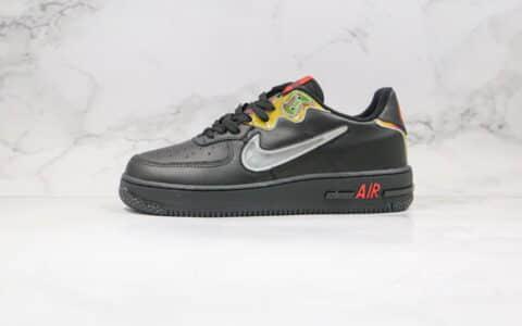 耐克Nike Air Force 1 React纯原版本低帮空军一号透明勾黑幻彩渐变板鞋原鞋开模一比一打造 货号:CN9838-001
