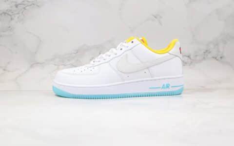 耐克Nike Air Force 1 Pastel White Multicolour纯原版本低帮空军一号绮妮亚LF白黄蓝色板鞋原档案数据开发 货号:CZ8132-100