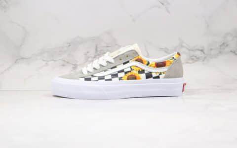 万斯Vans Style 36公司级版本低帮半月包头棋盘格子向日葵图案硫化板鞋原厂硫化大底内置钢印
