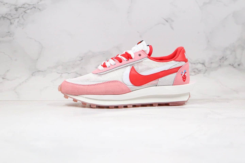 耐克Nike LDV Waffl x Sacai联名款纯原版本华夫粉色情人节走秀慢跑鞋原盒原标 货号:BV5378-800