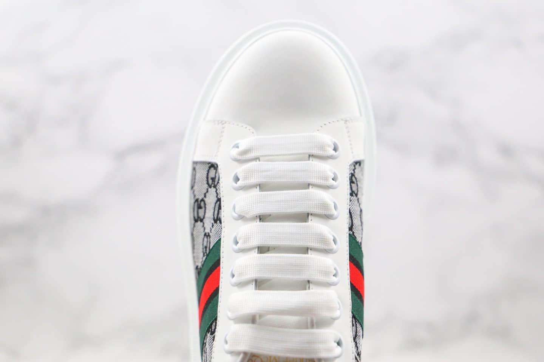 麦昆Alexander McQueen 2020 x Gucci纯原版本古驰联名款低帮小白鞋印花图案原楦头纸板打造原盒配件齐全