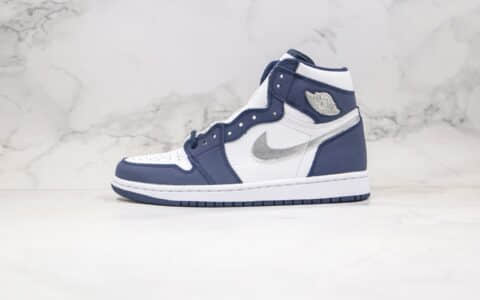乔丹Air Jordan 1 Midnight Navy纯原版本高帮AJ1海军蓝银色篮球鞋正确后跟定型 货号:DC1788-100