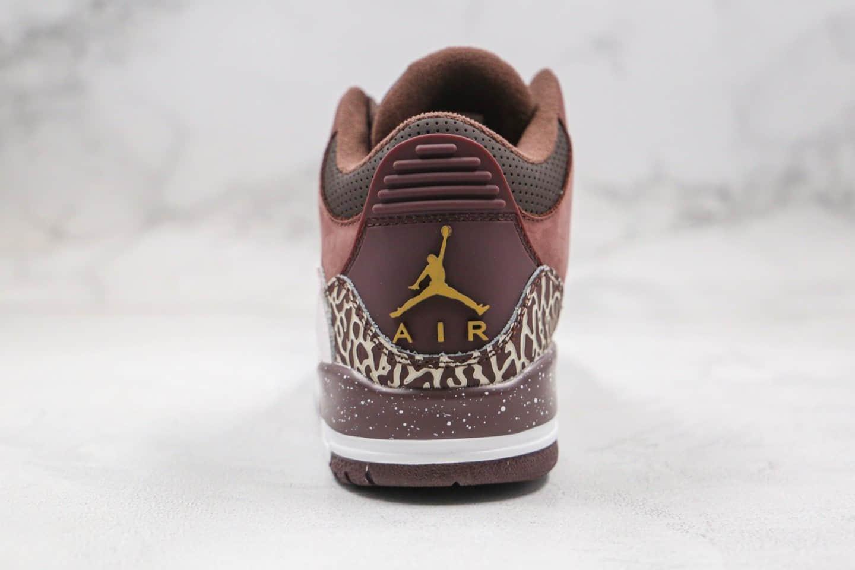 乔丹Air Jordan 3 Retro High OG纯原版本倒钩AJ3麂皮磨砂酒红色原档案数据开发 货号:626988-018