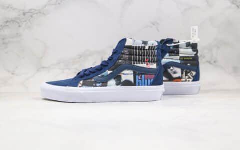 万斯VANS DQM公司级版本三方联名款人像涂鸦印花高帮板鞋原厂蓝色原档案数据开发