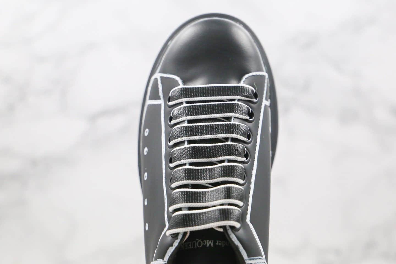 亚历山大Alexander McQueen纯原版本麦昆二次元黑涂鸦增高鞋原盒配件齐全原楦头纸板打造