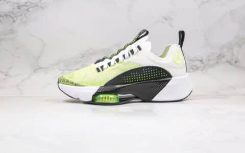 乔丹Air Jordan zoom renegade纯原版本马拉松蝉翼跑鞋白黑绿色内置气垫原楦头纸板打造 货号:CJ5383-103