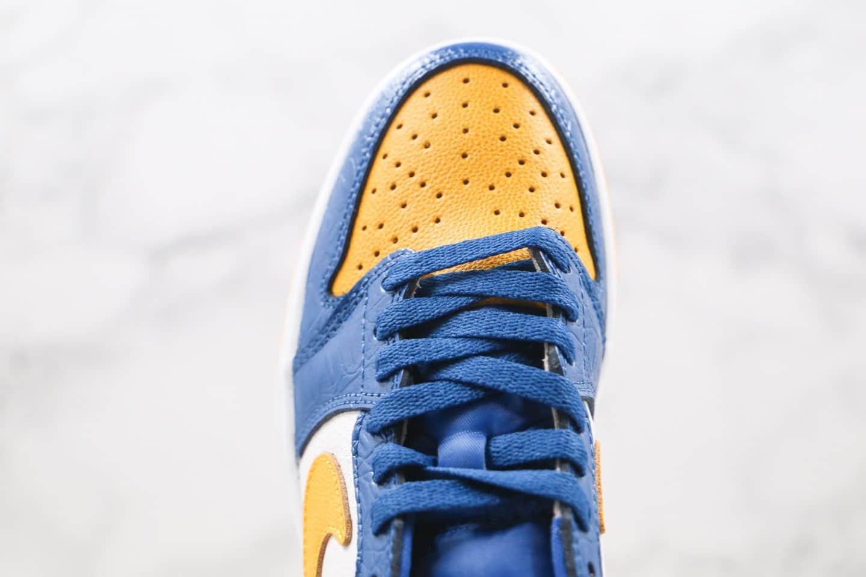 乔丹Air Jordan 1 Low纯原版本低帮AJ1爆裂纹玉米黄色篮球鞋原盒原标 货号:CZ6909-200