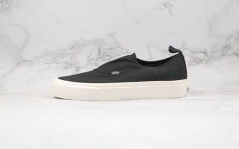 万斯Vans公司级版本无鞋带一脚蹬宝藏鞋黑色丝带原楦头纸板打造原盒原标