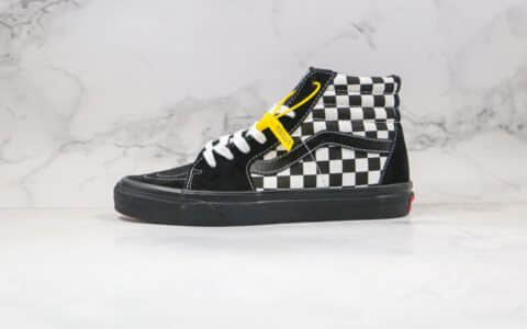 万斯Vans SH8-HI COMFYCUSH公司级版本高帮棋盘格子虎纹拼接鸳鸯黑白色板鞋原楦头纸板打造 货号:VN0A3WMB17Q