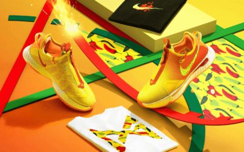 """Nike PG 4泡椒配色来袭!还有""""泡椒桶""""! 货号:CD5082-601"""