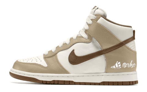 奶茶热可可!全新Nike Dunk High首度曝光!明年8月登场! 货号:DH5348-100