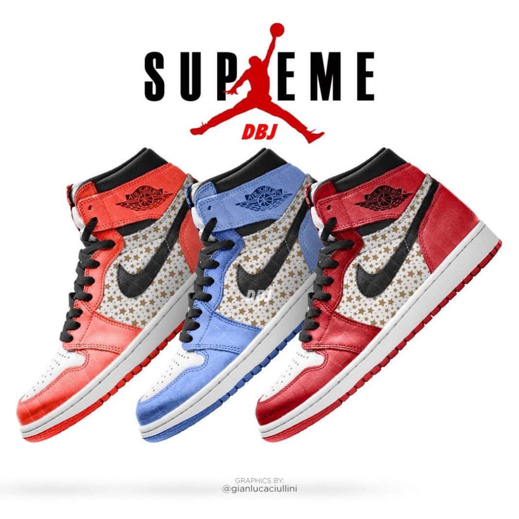 Supreme x AJ1最新渲染图曝光!明年夏季登场!