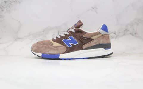 新百伦NB998棕蓝色复古老爹鞋纯原版本出货