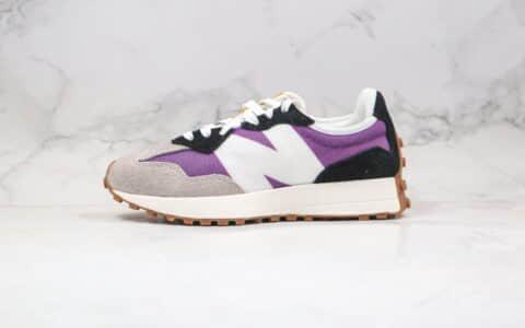 新百伦New Balance 327公司级版本复古慢跑鞋NB327灰黑紫色原盒原标原楦头纸板打造 货号:MS327COA