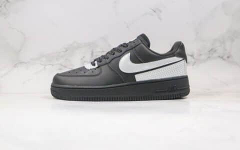 耐克Nike Air Force 1 Low '07纯原版本低帮空军一号黑灰银色板鞋内置全掌Sole气垫 货号:CT2299-100