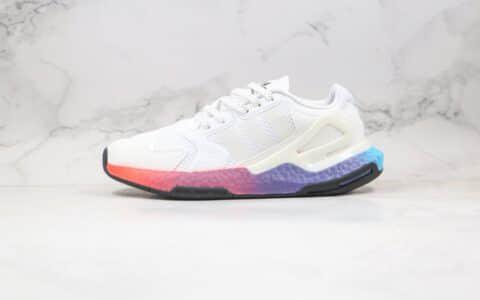 阿迪达斯Adidas Originals 2020 Day Jogger Boost 2020纯原版本三叶草夜行者二代白炫彩紫色爆米花跑鞋原楦头纸板打造 货号:FY3012