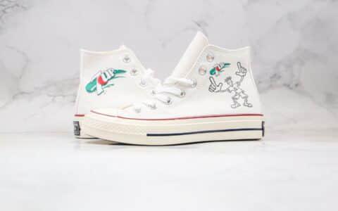 匡威7UP x Converse 1970s公司级版本七喜联名三星标帆布鞋白绿色蓝底双围条 货号:162056C