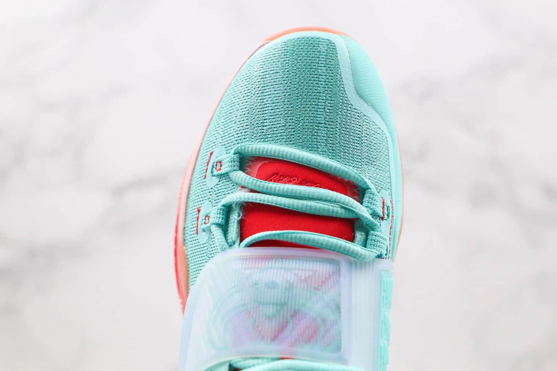 耐克Concepts x Nike Kyrie 6纯原版本欧文6代篮球鞋埃及圣甲虫绿粉橘色内置气垫支持实战 货号:CU8880-600