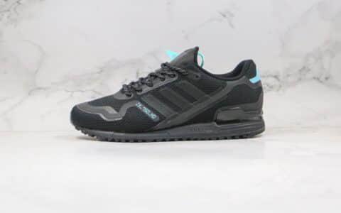 """阿迪达斯adidas Originals ZX750 HD""""White Volt""""纯原版本复古休闲运动慢跑鞋黑蓝色原数据鞋模 货号:FV8488"""