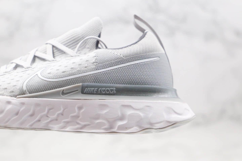 耐克Nike Epic React Flyknit公司级版本瑞亚编织超轻缓震跑步鞋灰色原盒原标 货号:CD4371-006
