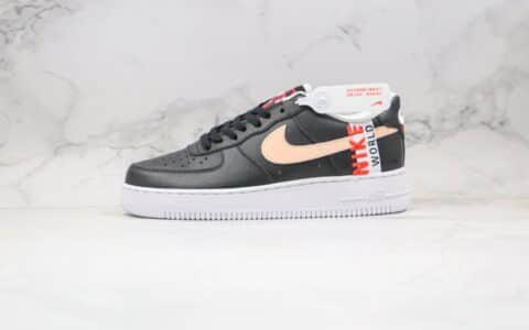 """耐克Nike Air Force 1 """"Worldwide""""纯原版本空军一号低帮板鞋地球日主题黑粉红色原档案数据开发 货号:CN8536-001"""