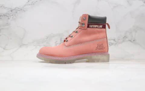 卡特CAT FOOTWEAR纯原版本水晶底工装鞋浅粉色原档案数据开发原鞋开模一比一打造
