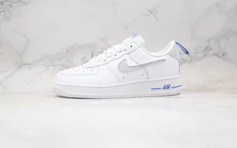 耐克Nike Air Force 1 Low Cut-Out纯原版本低帮空军一号镂空LOGO钩白蓝色板鞋内置气垫 货号:DC1429-100