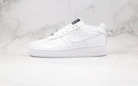 耐克Nike air force 1 Lux All-Star White纯原版本低帮空军一号漆皮白黑色板鞋原档案数据开发 货号:898889-100