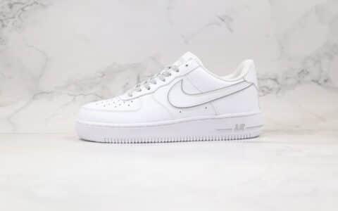耐克Nike Air Force 1 Low x Kith联名款纯原版本低帮3M满天星白灰色板鞋内置全掌气垫 货号:CR7792-022