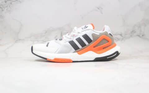 阿迪达斯adidas Originals Day Jogger Boost纯原版本陈奕迅同款夜行者2代高弹复古休闲运动跑鞋白橙色原鞋开模 货号:FY0237