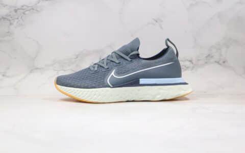 耐克Nike Epic React Flyknit纯原版本瑞亚编织超轻缓震跑步鞋深灰色原盒原标 货号:CD4371-401