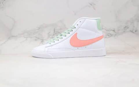 耐克Nike W Blazer Mid Vintage Suede纯原版本中帮开拓者白粉绿色原厂贝利头层皮 货号:AV9376-605