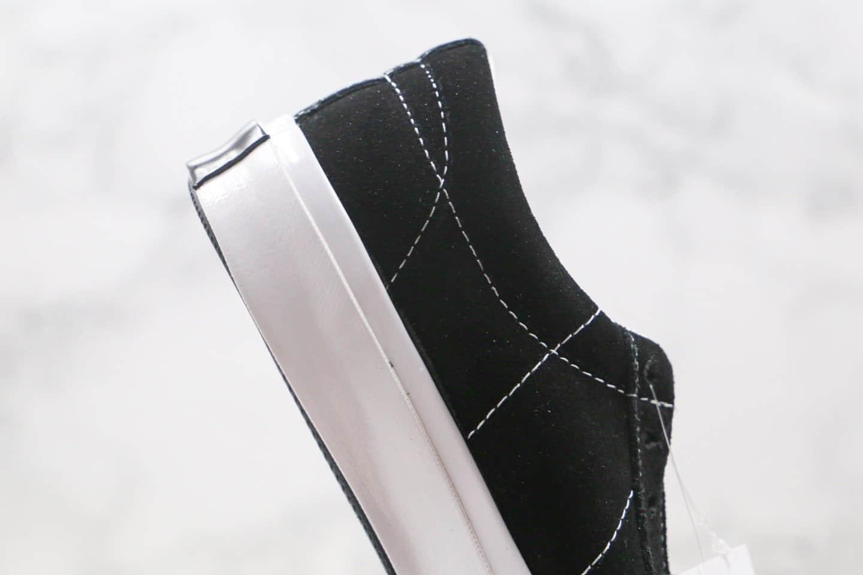 匡威Matnu x Converse 1970s公司级版本国潮联名易烊千玺同款拼色复古翻毛皮板鞋黑白色原盒原标 货号:158369C