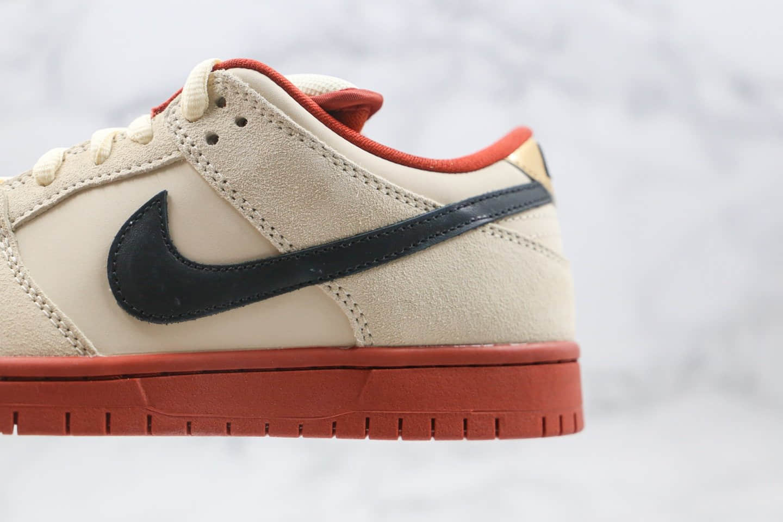 耐克Nike SB Dunk Low Muslin纯原版本低帮SB DUNK招财猫米白红黑色板鞋内置Zoom气垫 货号:BQ6817-100
