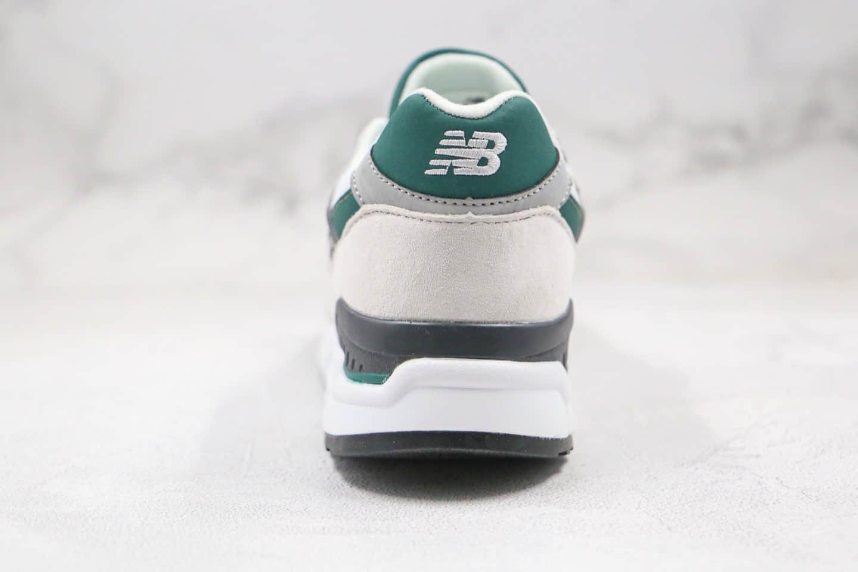 新百伦New Balance 998纯原版本复古慢跑鞋NB998白绿色原盒原标原档案数据开发 货号:M998XAD