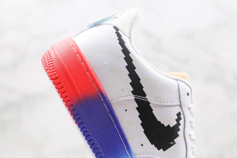 耐克Nike Air force 1纯原版本低帮空军一号电玩系列板鞋英雄联名皮肤白彩虹色原档案数据开发 货号:318155-113