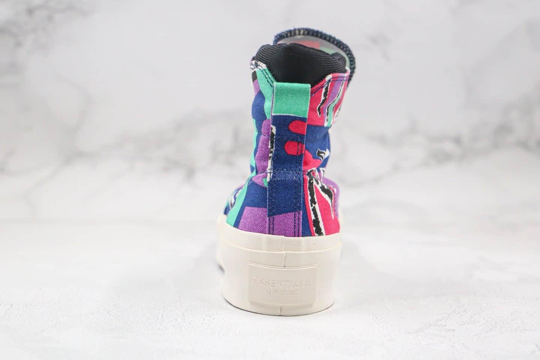 匡威Converse x FOG Essentials Skid grop联名款纯原版本高帮FOG涂鸦硫化板鞋原鞋开模一比一打造 货号:169888C
