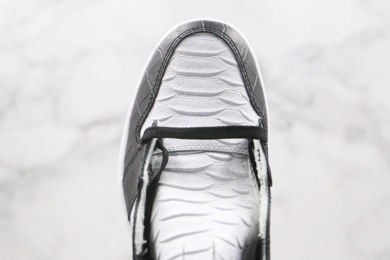 乔丹Air Jordan 1 WMNS Snake Swoosh Logo纯原版本高帮AJ1蛇纹白黑色正确鞋面材质 货号:555088-001