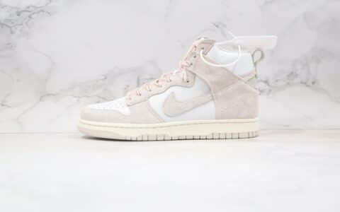 耐克Nike SB Dunk Hight Strawberry Cough纯原版本高帮SB dunk咳嗽草莓奶油白色板鞋内置Zoom气垫 货号:CW3092-100