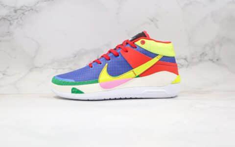 耐克Nike Zoom KD13 EP纯原版本杜兰特13代篮球鞋红蓝黄绿色内置气垫支持实战 货号:CI9948-703