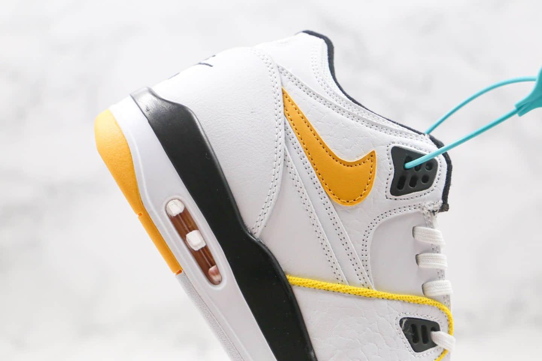 耐克Nike Air Flight 89纯原版本星际篮球主题星空白黑黄色篮球鞋原盒原标 货号:CN0050-100