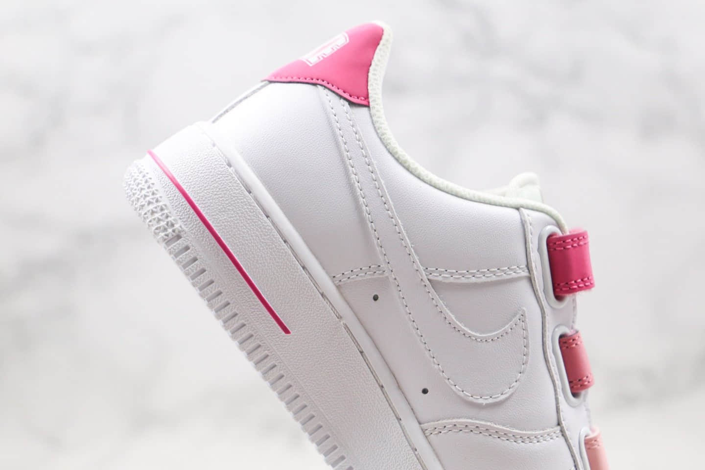 耐克Nike Air Force 1 '07纯原版本低帮空军一号魔术贴粉尾板鞋内置气垫原楦头纸板打造 货号:898866-009