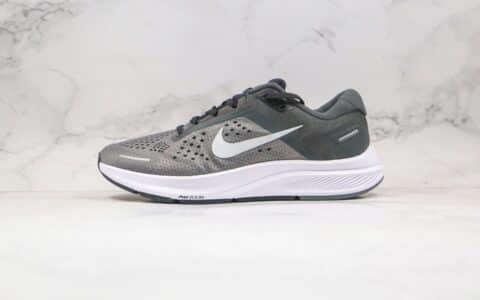耐克Nike Zoom Structure 23纯原版本登月23代网面透气慢跑鞋灰色原鞋开模一比一打造 货号:CZ6720-009